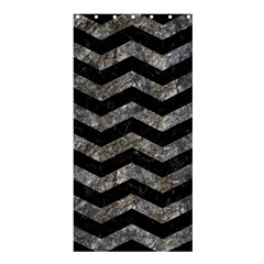 Chevron3 Black Marble & Gray Stone Shower Curtain 36  X 72  (stall)