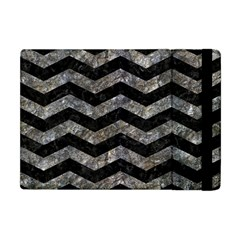 Chevron3 Black Marble & Gray Stone Apple Ipad Mini Flip Case
