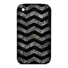 Chevron3 Black Marble & Gray Stone Iphone 3s/3gs