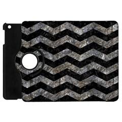 Chevron3 Black Marble & Gray Stone Apple Ipad Mini Flip 360 Case
