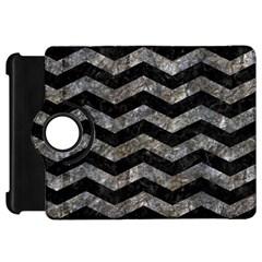 Chevron3 Black Marble & Gray Stone Kindle Fire Hd 7