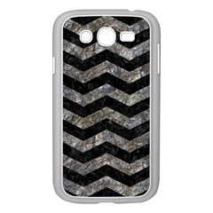 Chevron3 Black Marble & Gray Stone Samsung Galaxy Grand Duos I9082 Case (white)