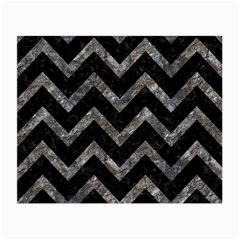 Chevron9 Black Marble & Gray Stone Small Glasses Cloth