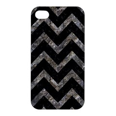 Chevron9 Black Marble & Gray Stone Apple Iphone 4/4s Premium Hardshell Case