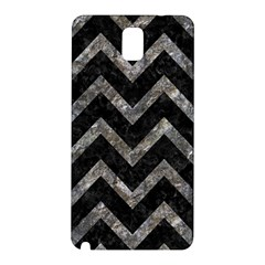 Chevron9 Black Marble & Gray Stone Samsung Galaxy Note 3 N9005 Hardshell Back Case