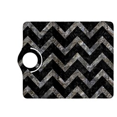 Chevron9 Black Marble & Gray Stone Kindle Fire Hdx 8 9  Flip 360 Case