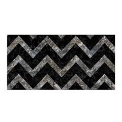 Chevron9 Black Marble & Gray Stone Satin Wrap