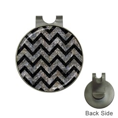Chevron9 Black Marble & Gray Stone (r) Hat Clips With Golf Markers