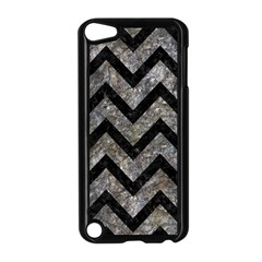 Chevron9 Black Marble & Gray Stone (r) Apple Ipod Touch 5 Case (black)