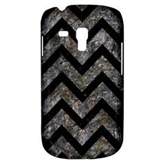 Chevron9 Black Marble & Gray Stone (r) Galaxy S3 Mini