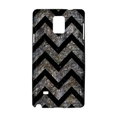 Chevron9 Black Marble & Gray Stone (r) Samsung Galaxy Note 4 Hardshell Case