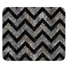 Chevron9 Black Marble & Gray Stone (r) Double Sided Flano Blanket (small)