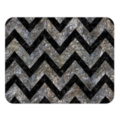Chevron9 Black Marble & Gray Stone (r) Double Sided Flano Blanket (large)