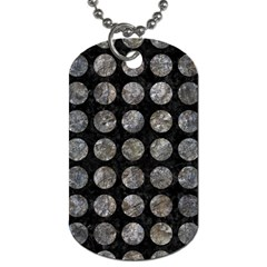 Circles1 Black Marble & Gray Stone Dog Tag (two Sides)