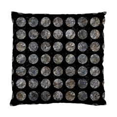 Circles1 Black Marble & Gray Stone Standard Cushion Case (two Sides)