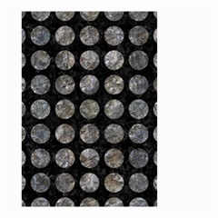 Circles1 Black Marble & Gray Stone Small Garden Flag (two Sides)