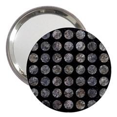 Circles1 Black Marble & Gray Stone 3  Handbag Mirrors