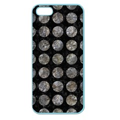 Circles1 Black Marble & Gray Stone Apple Seamless Iphone 5 Case (color)
