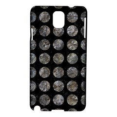 Circles1 Black Marble & Gray Stone Samsung Galaxy Note 3 N9005 Hardshell Case