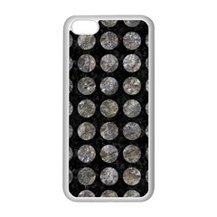 Circles1 Black Marble & Gray Stone Apple Iphone 5c Seamless Case (white)