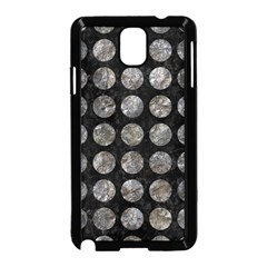 Circles1 Black Marble & Gray Stone Samsung Galaxy Note 3 Neo Hardshell Case (black)