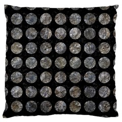 Circles1 Black Marble & Gray Stone Standard Flano Cushion Case (two Sides)