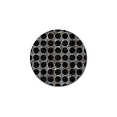 Circles1 Black Marble & Gray Stone (r) Golf Ball Marker