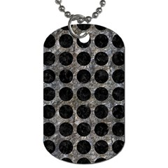 Circles1 Black Marble & Gray Stone (r) Dog Tag (two Sides)