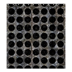 Circles1 Black Marble & Gray Stone (r) Shower Curtain 66  X 72  (large)