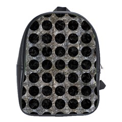 Circles1 Black Marble & Gray Stone (r) School Bag (large)