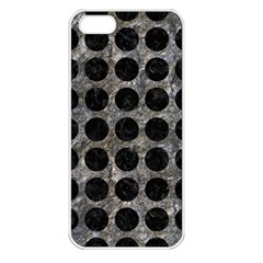 Circles1 Black Marble & Gray Stone (r) Apple Iphone 5 Seamless Case (white)