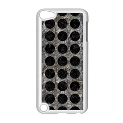 Circles1 Black Marble & Gray Stone (r) Apple Ipod Touch 5 Case (white)