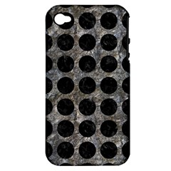 Circles1 Black Marble & Gray Stone (r) Apple Iphone 4/4s Hardshell Case (pc+silicone)