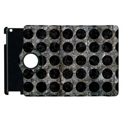 Circles1 Black Marble & Gray Stone (r) Apple Ipad 2 Flip 360 Case