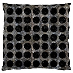 Circles1 Black Marble & Gray Stone (r) Standard Flano Cushion Case (one Side)
