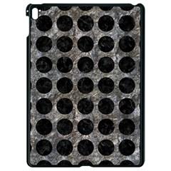 Circles1 Black Marble & Gray Stone (r) Apple Ipad Pro 9 7   Black Seamless Case