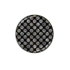 Circles2 Black Marble & Gray Stone Hat Clip Ball Marker (10 Pack)
