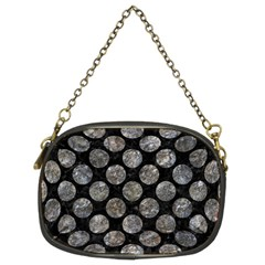 Circles2 Black Marble & Gray Stone Chain Purses (two Sides)