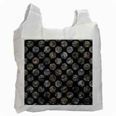 Circles2 Black Marble & Gray Stone Recycle Bag (one Side)
