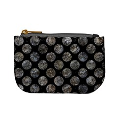 Circles2 Black Marble & Gray Stone Mini Coin Purses