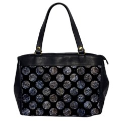 Circles2 Black Marble & Gray Stone Office Handbags