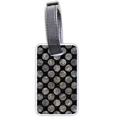 Circles2 Black Marble & Gray Stone Luggage Tags (two Sides)