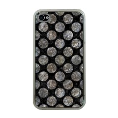 Circles2 Black Marble & Gray Stone Apple Iphone 4 Case (clear)