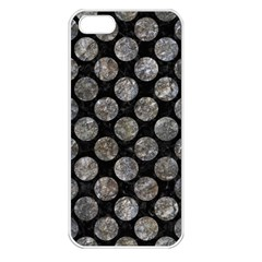 Circles2 Black Marble & Gray Stone Apple Iphone 5 Seamless Case (white)