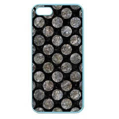 Circles2 Black Marble & Gray Stone Apple Seamless Iphone 5 Case (color)