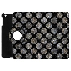 Circles2 Black Marble & Gray Stone Apple Ipad Mini Flip 360 Case