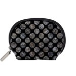 CIRCLES2 BLACK MARBLE & GRAY STONE Accessory Pouches (Small)  Front