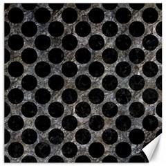 Circles2 Black Marble & Gray Stone (r) Canvas 20  X 20
