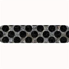 Circles2 Black Marble & Gray Stone (r) Large Bar Mats