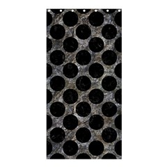 Circles2 Black Marble & Gray Stone (r) Shower Curtain 36  X 72  (stall)